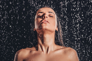 Woman in shower