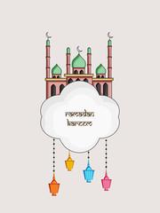 Illustration of Muslim festival Eid/Ramadan background