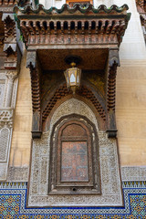Ornaments and window, in Fes, Morocco