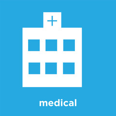 medical icon isolated on blue background