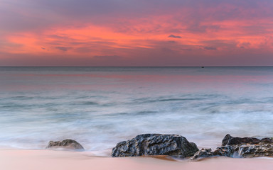 Luminescent Pink Sunrise Seascape