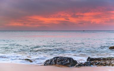 Luminescent Pink Sunrise Seascape