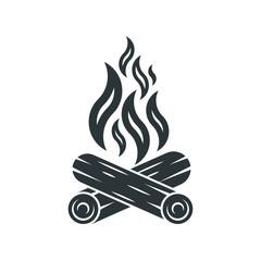 Bonfire icon. Campfire logo