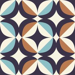 motif rétro sans couture dans un style scandinave avec des éléments géométriques