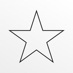 Star line icon. Vector illustration.