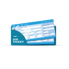 air ticket travel sign in blue illustration