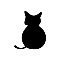 Cat, icon. Abstract concept. Vector illustration on white background.