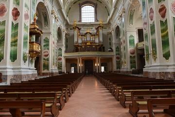 Poster Lieu de culte Innenansicht der Jesuitenkirche in Mannheim