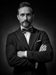 A series of academic studio male portraits.