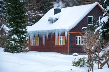 Hexenhaus im Winter