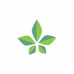 elegant leaf logo design