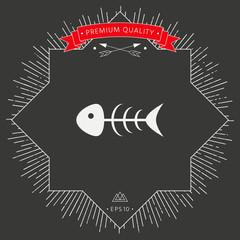 Fish skeleton icon