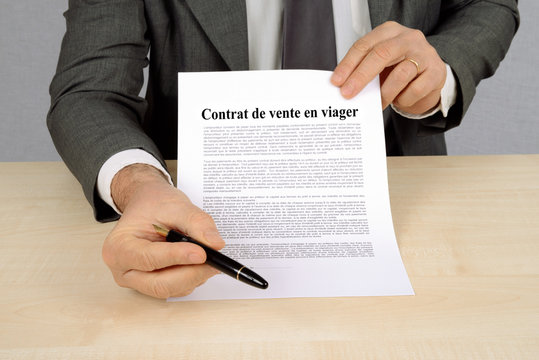 Contrat de vente en viager