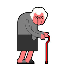 Evil Grandmother Old hag. Bad Grandma. Old lady Angry. Vector illustration