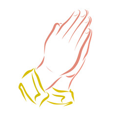 Hands folded in prayer, religion