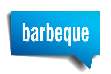 barbeque blue 3d speech bubble