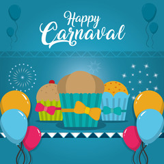 Happy carnaval card