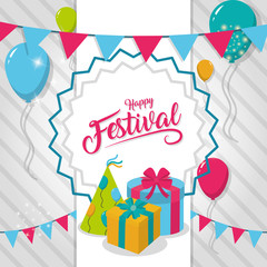 Happy festival card