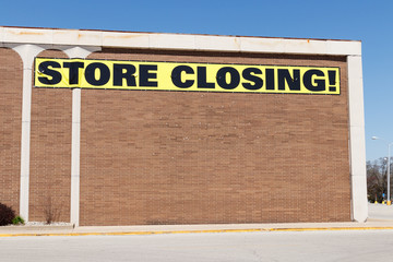 Store Closing Sign on a department store going out of business IV