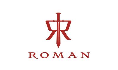 Sword / Initial R / Roman logo design inspiration
