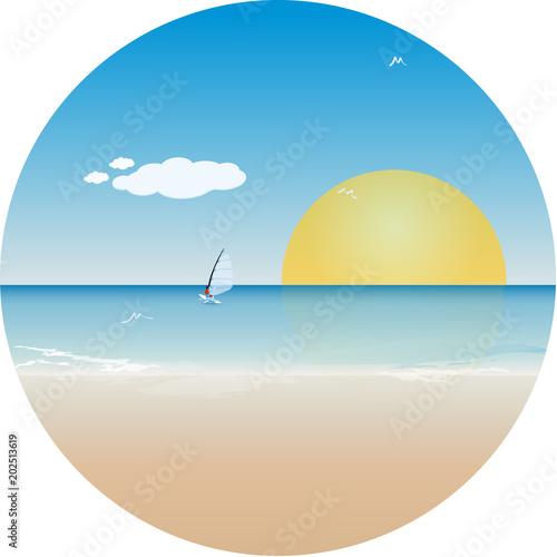 Yaz Tatili Deniz Kum Ve Güneş Stok Görseller Ve Telifsiz Vektör