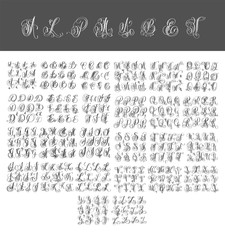 mega set of calligraphy hand written alphabet design