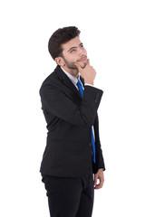 a pensive man