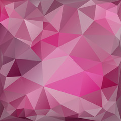 Pink square background of triangles