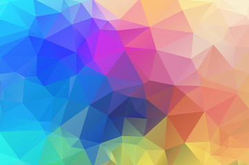 Multicolor abstract background of triangles. Gentle, sunny, pleasant