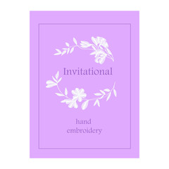 lace card, flower invitation