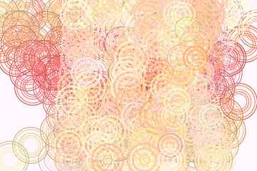 Color abstract circles, bubbles, sphere or ellipses pattern generative art background. Decoration, digital, wallpaper & graphic.