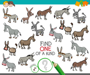 find one of a kind with donkeys animal characters