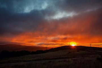 Amazing sunrise on camino