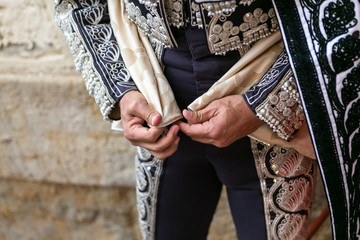 Bullfighter's hands