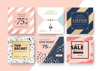 Patterned Social Media Commerce Layouts
