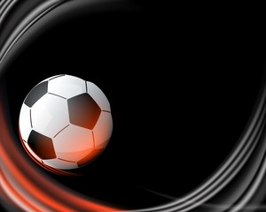 Soccer ball with black background