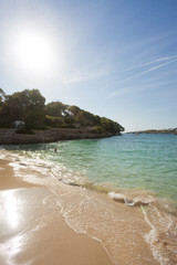 Cala d'Or, Mallorca - AUGUST 2016 - Sunset at the beautiful beach of Cala d'Or