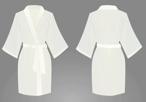 White bathrobe. vector illustration