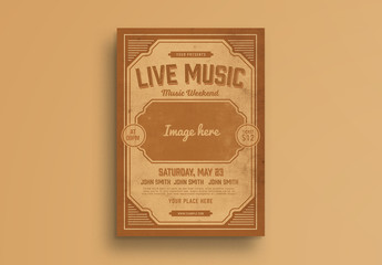 Live Music Flyer Layout