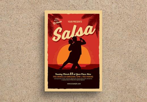 Salsa Dance Flyer Layout