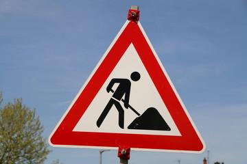 Roadworks, Construction Area, Baustelle, Straßenarbeiten
