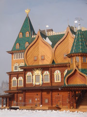 The Kolomna Palace of Tsar Alexei Mikhailovich. Wooden Royal Palace, built in the suburban village of Kolomenskoye in the second half of the XVII century.