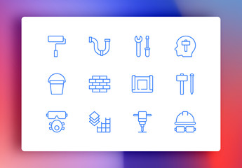 Construction Minimalist Icons