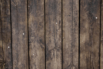 Close up texture background of old dark wooden boards arranged in a wall