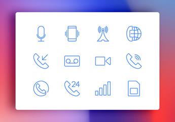 Phone Minimalist Icons