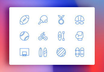 Sports Minimalist Icons
