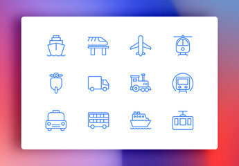 Transport Minimalist Icons