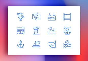Travel Minimalist Icons