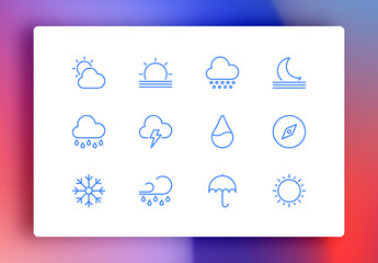 Weather Minimalist Icons