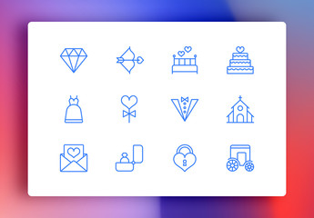 Wedding Minimalist Icons